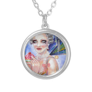 Marie Antoinette - Queen of Cupcakes Silver Plated Necklace