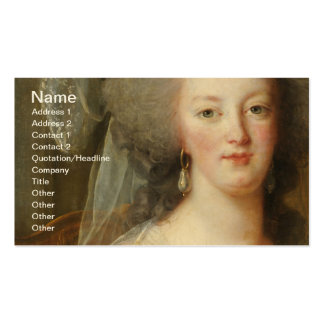 Marie Antoinette, Queen of France Double-Sided Standard Business Cards (Pack Of 100)