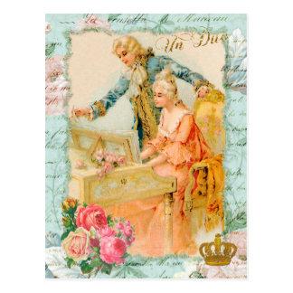 Marie Antoinette Rococo Piano Postcard