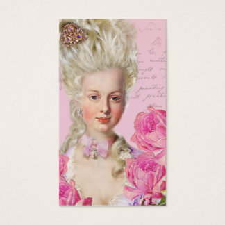 Marie Antoinette Rose Pink Business Cards