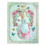 Marie Antoinette Shabby Chic Butterfly Postcard