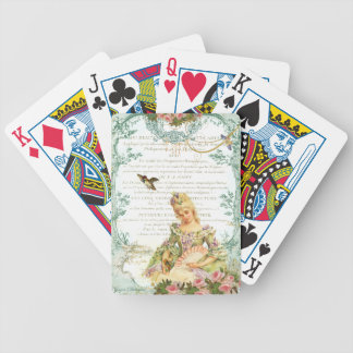Marie Antoinette & Sparrow Bicycle Playing Cards