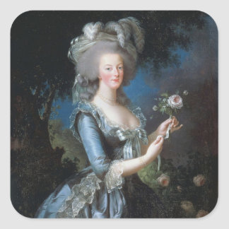 Marie Antoinette Square Sticker