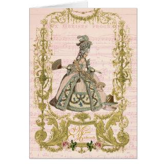 Marie Antoinette Stationery Pour Cerises Card