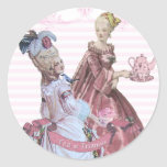 Marie Antoinette Tea at Trianon Seals Classic Round Sticker