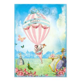 Marie Antoinette Tea at Versailles Lawn Party 5x7 Paper Invitation Card