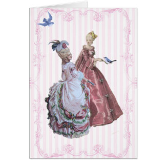 Marie Antoinette Tea In the Garden at Versailles Greeting Card