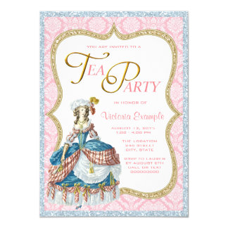 Marie Antoinette Tea Party Card
