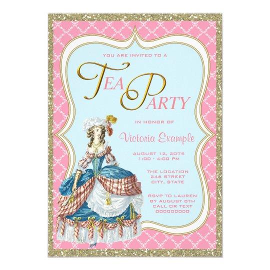 Marie Antoinette Tea Party Invitation