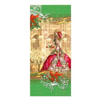 Marie Antoinette Tea Party Versailles Christmas Rack Card