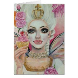 Marie Antoinette - the cupcake queen Card