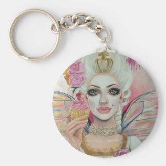 Marie Antoinette - the cupcake queen Basic Round Button Keychain