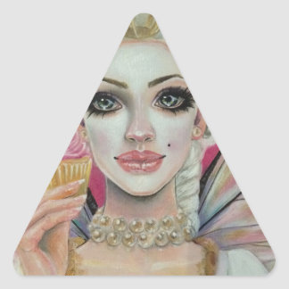 Marie Antoinette - the cupcake queen Triangle Sticker