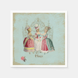 Marie Antoinette Three Ladies in Waiting Paper Napkin