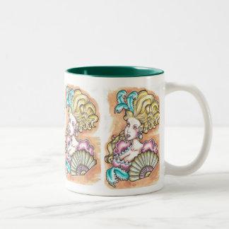 marie antoinette Two-Tone coffee mug