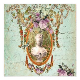 Marie Antoinette Versailles Ancient Gardens Square Card