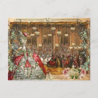Marie Antoinette Versailles Ball Postcards postcard