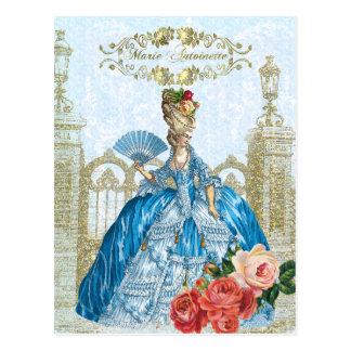 Marie Antoinette Versailles Blue Postcard