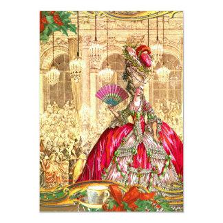 Marie Antoinette Versailles Christmas Tea Party 5x7 Paper Invitation Card