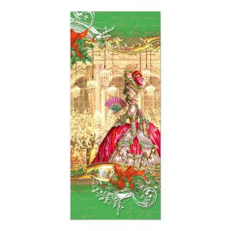 Marie Antoinette Versailles Christmas Tea Party Card