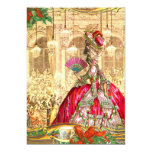 Marie Antoinette Versailles Christmas Tea Party 5x7 Paper Invitation Card