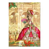 Birthday Invitations. Marie Antoinette Versailles Christmas Tea Party