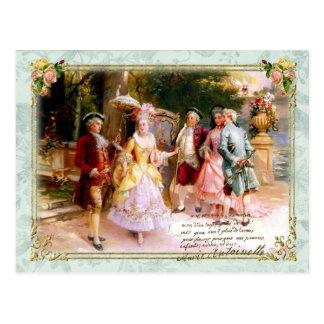 Marie Antoinette Versailles Garden Postcard