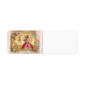 Marie Antoinette Versailles Party in Pink Return Address Labels