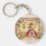 Marie Antoinette Versailles Party Pink Basic Round Button Keychain
