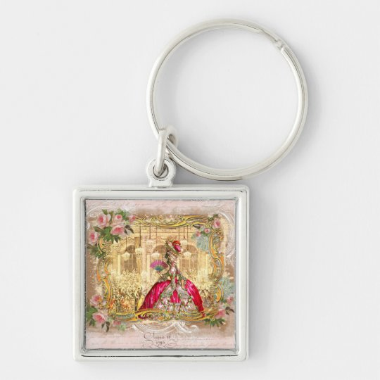 Marie Antoinette Versailles Party Pink Keychain