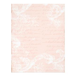 Marie Antoinette Versailles Party Pink Letterhead
