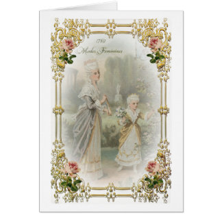 Marie Antoinette Versailles Rose Gardens 1700's Stationery Note Card