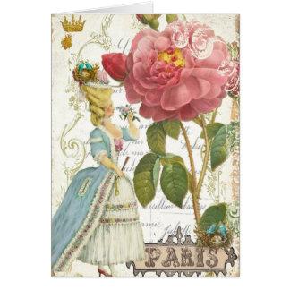 Marie Antoinette Versailles Rose Greeting Card