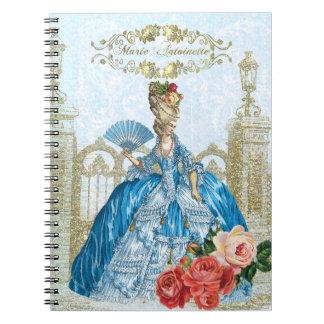Marie Antoinette Verseilles Blue notebook