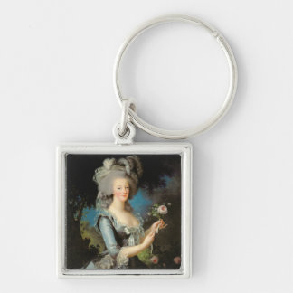 Marie Antoinette  with a Rose, 1783 Keychain