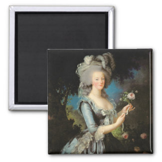 Marie Antoinette with a Rose, 1783 Magnets
