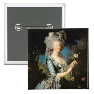 Marie Antoinette with a Rose, 1783 Pinback Button