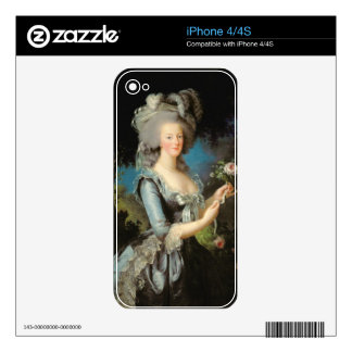 Marie Antoinette with a Rose, 1783 Skin For The iPhone 4