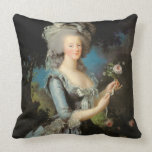 Marie Antoinette with a Rose, 1783 Throw Pillow