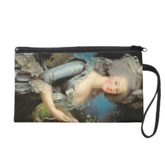Marie Antoinette with a Rose, 1783 Wristlet Purse