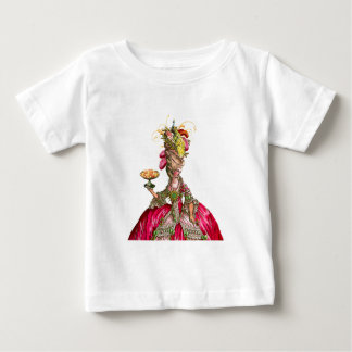 Marie Antoinette with Cakes and Peacock Baby T-Shirt