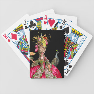 Marie Antoinette with Cakes and Peacock Bicycle Playing Cards