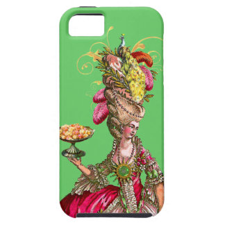 Marie Antoinette with Cakes and Peacock iPhone SE/5/5s Case