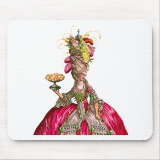 Marie Antoinette with Cakes and Peacock Mouse Pad