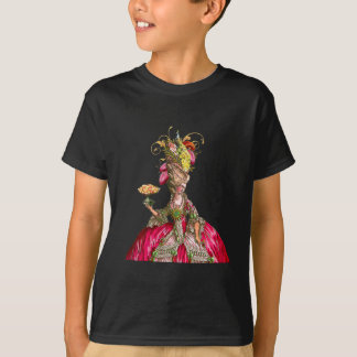 Marie Antoinette with Cakes and Peacock T-Shirt