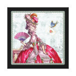 Marie Antoinette with Fan Stretched Canvas Prints
