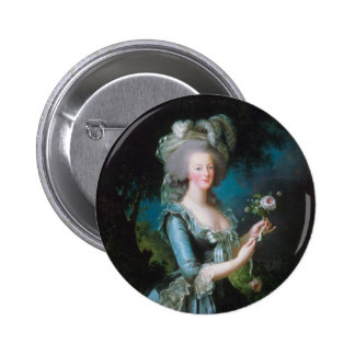 Marie Antoinette with the Rose by Elisabeth Lebrun Pinback Button