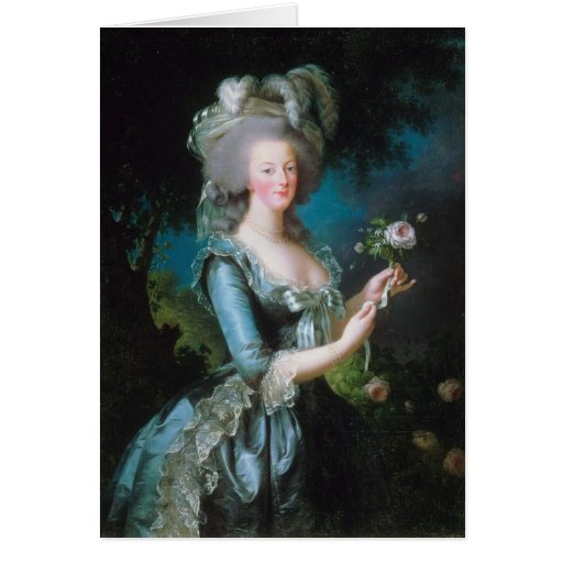 Marie-Antoinette with the Rose by Elisabeth Lebrun Card