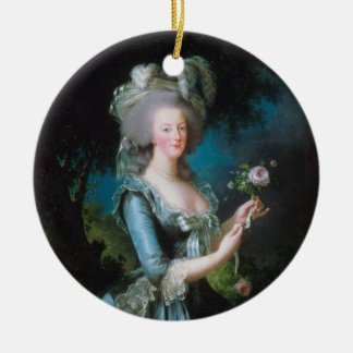 Marie-Antoinette with the Rose by Elisabeth Lebrun Ceramic Ornament