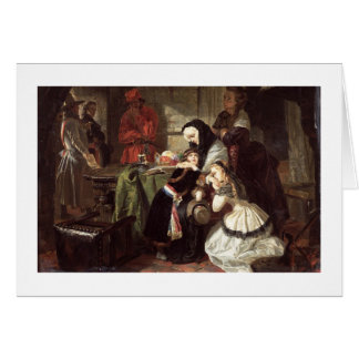 Marie-Antoinette's (1753-93) Final Adieu to the Da Card